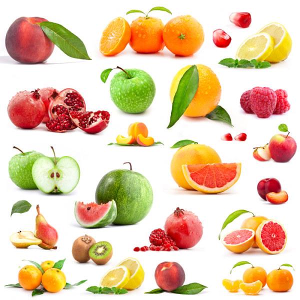 各种水果切水果叶子图片素材
